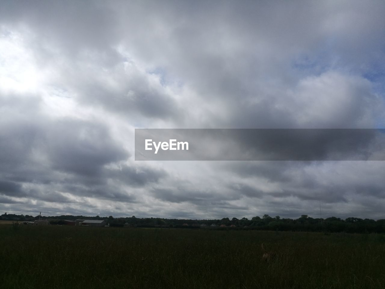 field, landscape, cloud - sky, nature, beauty in nature, tranquil scene, sky, tranquility, scenics, agriculture, day, outdoors, no people, rural scene, storm cloud, grass, tree