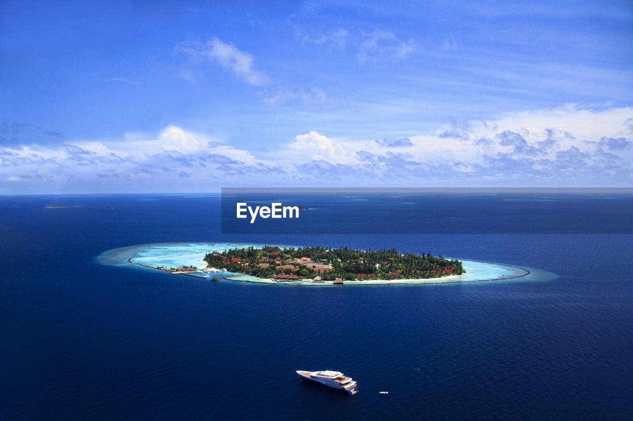 High Angle View Of An Idyllic Island
