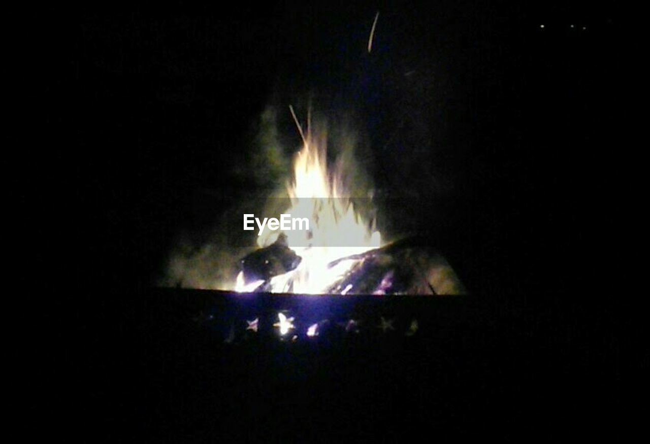 burning, night, flame, heat - temperature, no people, outdoors, close-up