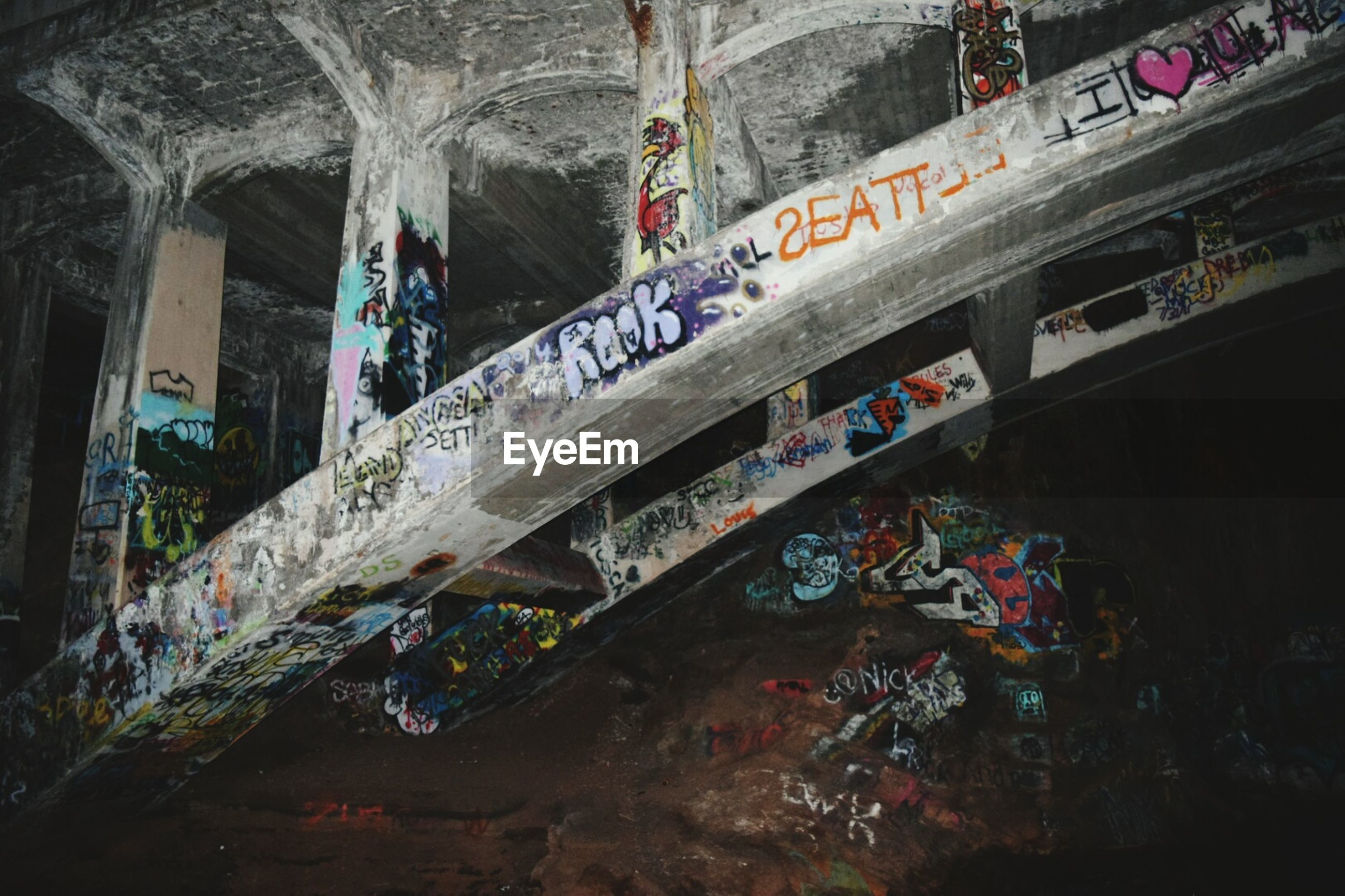 built structure, architecture, building exterior, text, low angle view, non-western script, day, travel, travel destinations, history, building, western script, graffiti, indoors, famous place, no people, old, high angle view, transportation