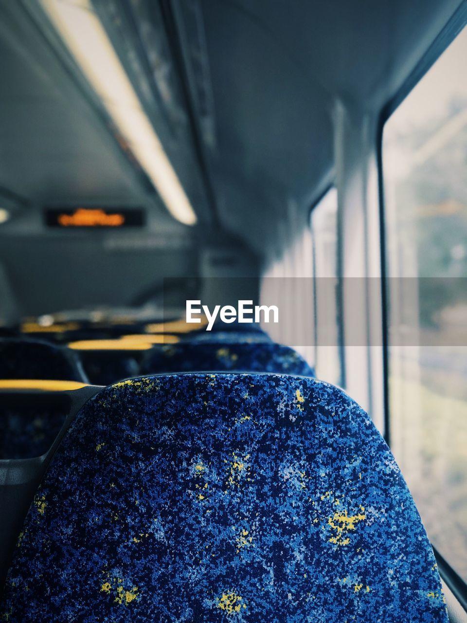 Blue Seats In Train