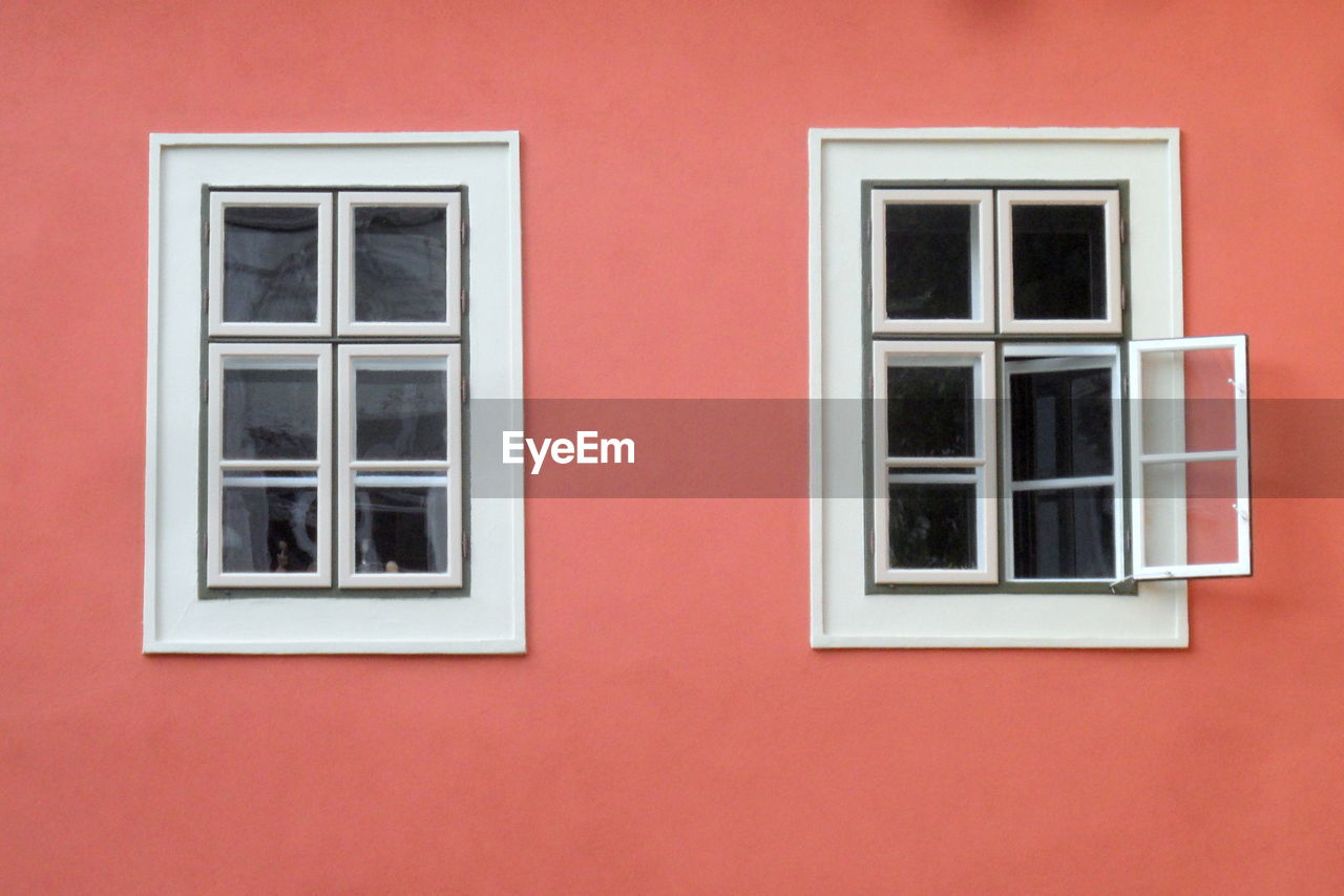 Close-up of windows on wall