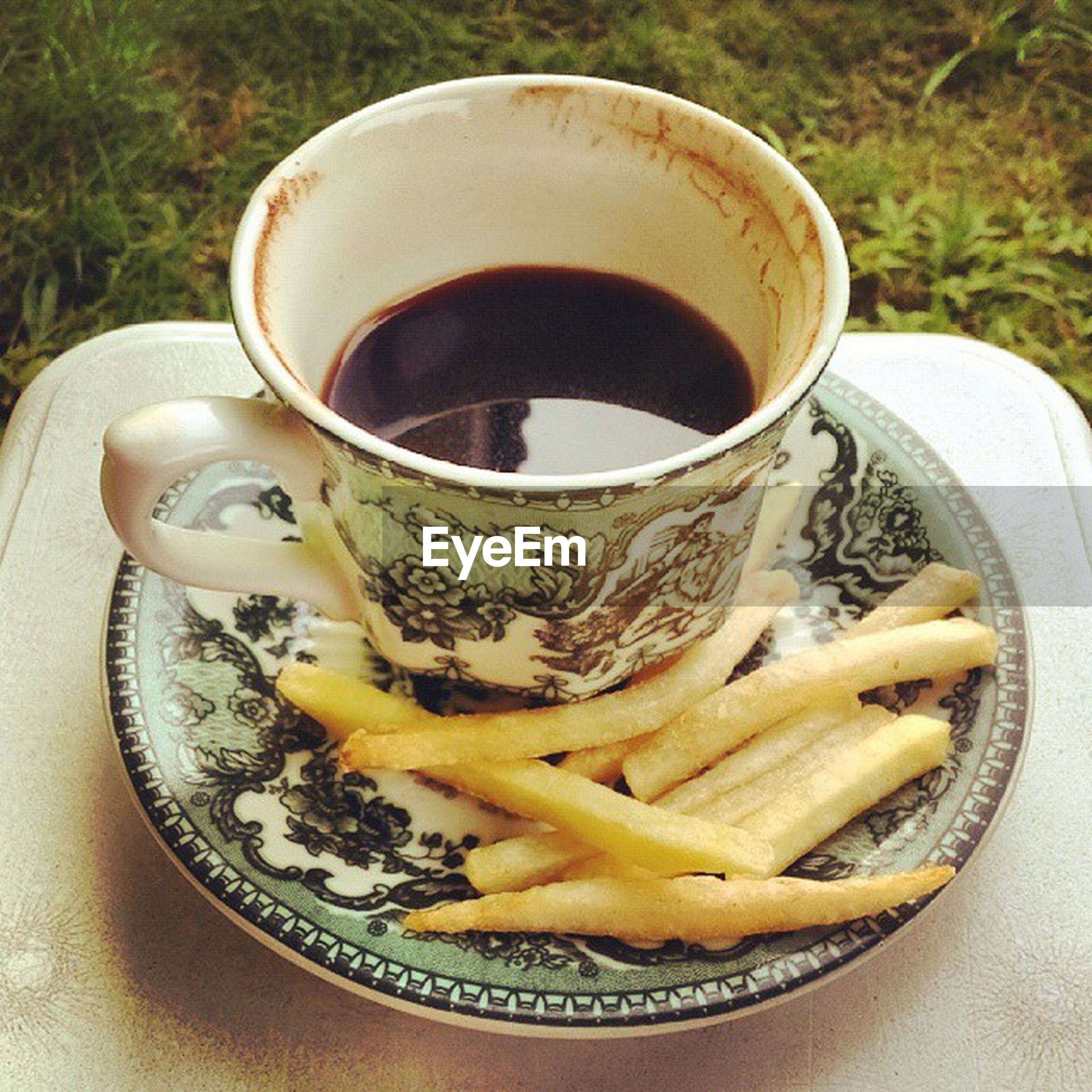 food and drink, freshness, food, drink, indoors, still life, healthy eating, close-up, table, plate, refreshment, high angle view, bowl, spoon, coffee cup, ready-to-eat, serving size, coffee - drink, no people, directly above