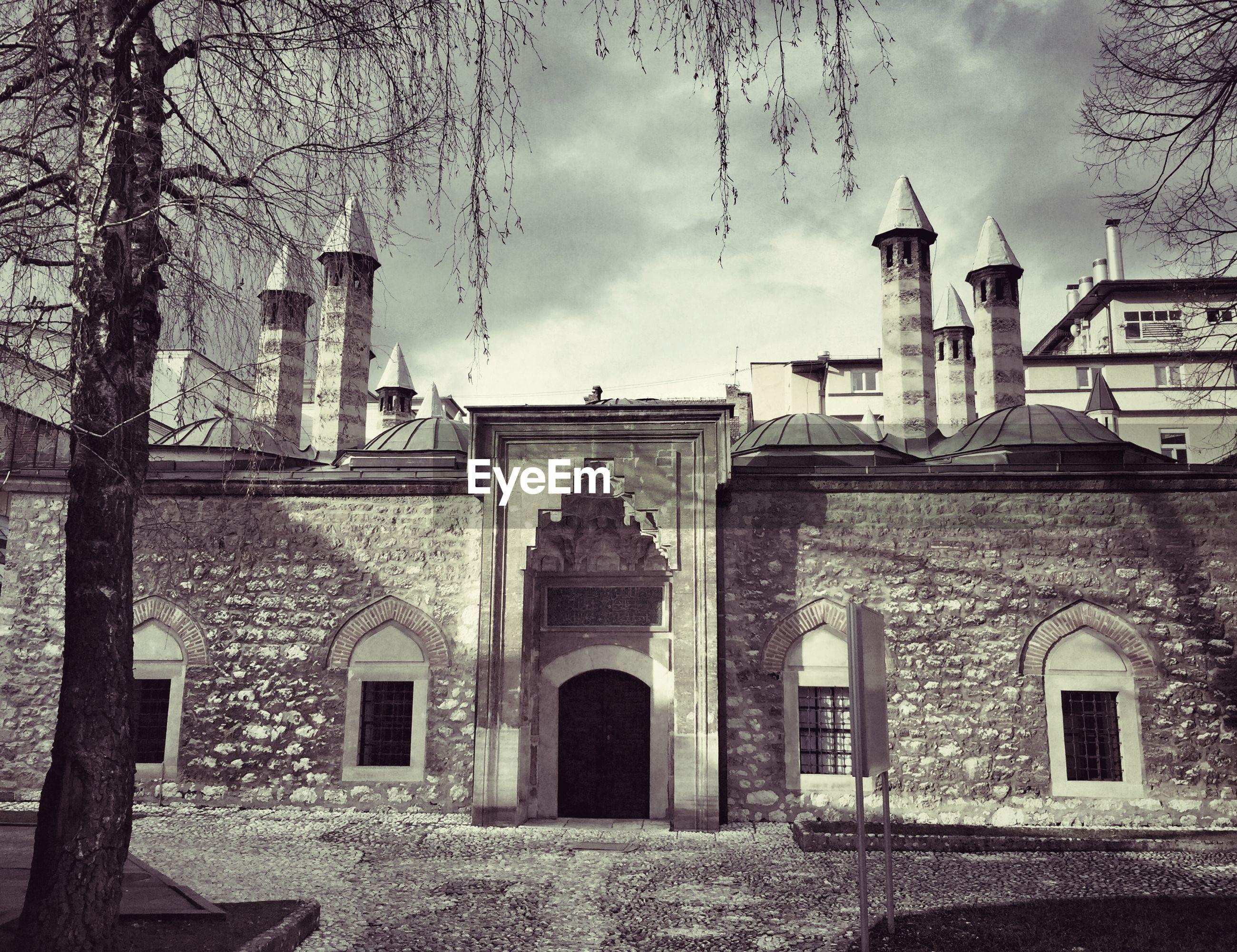 Gazi husrev-beg mosque against cloudy sky
