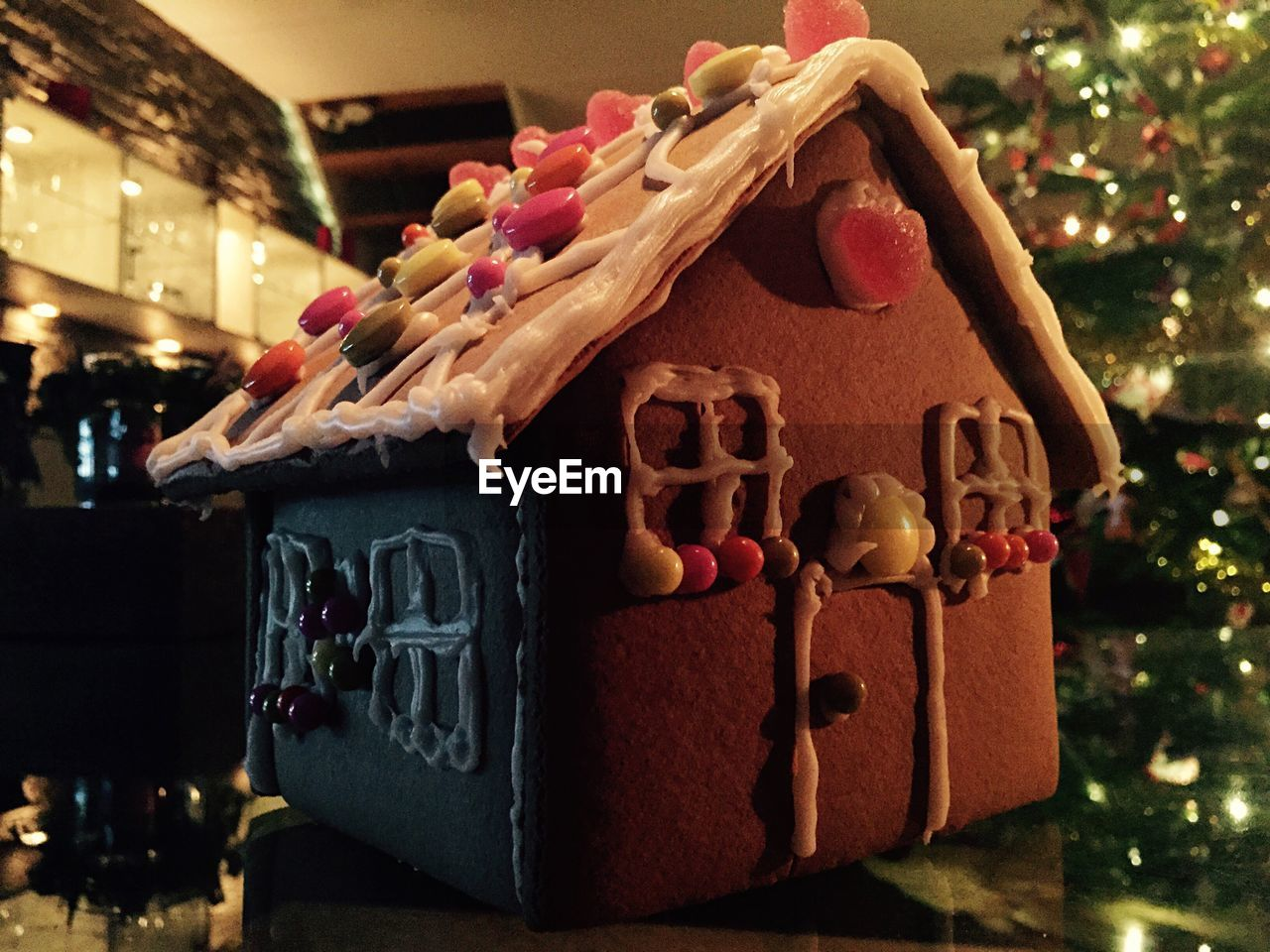 christmas, christmas tree, indoors, celebration, christmas decoration, tradition, no people, holiday - event, sweet food, illuminated, tree, close-up, day