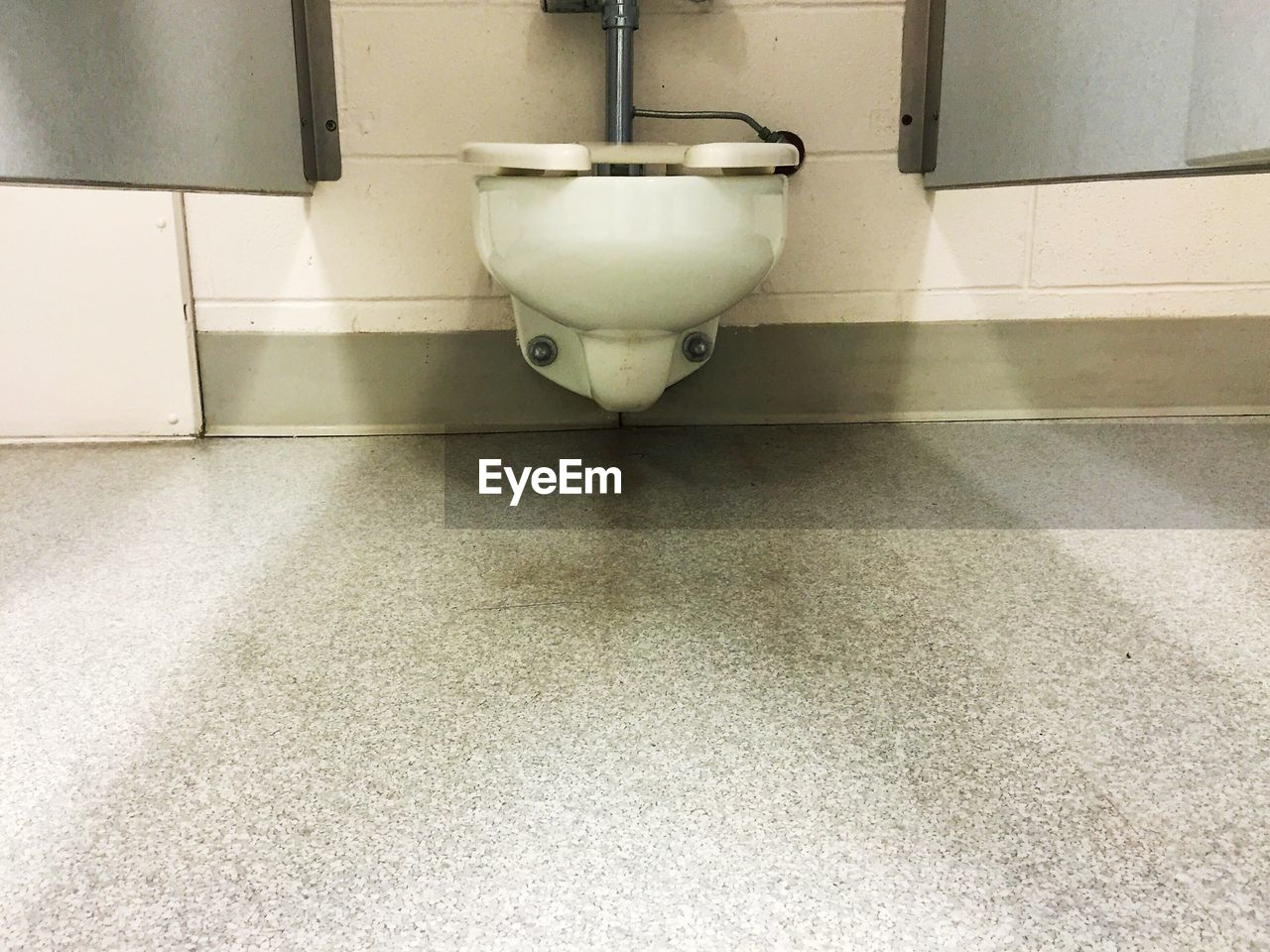 indoors, no people, bathroom, day, toilet bowl, close-up, flushing toilet