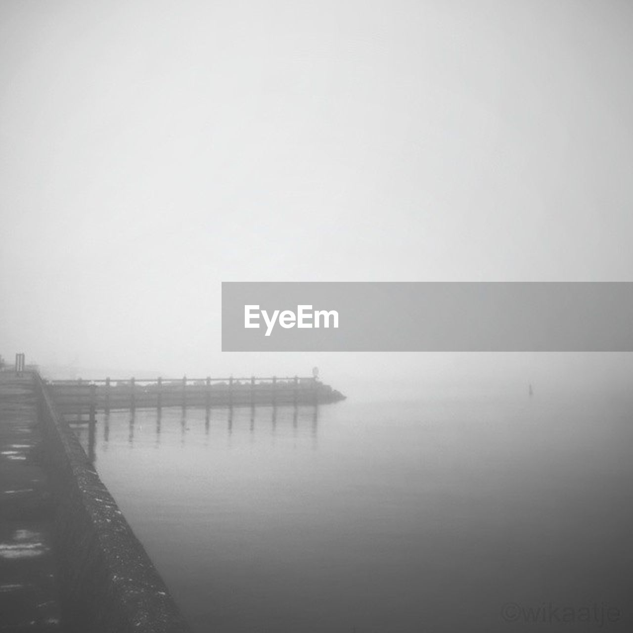 fog, water, pier, foggy, copy space, tranquility, nature, outdoors, tranquil scene, no people, beauty in nature, day, mist, sea, scenics, sky