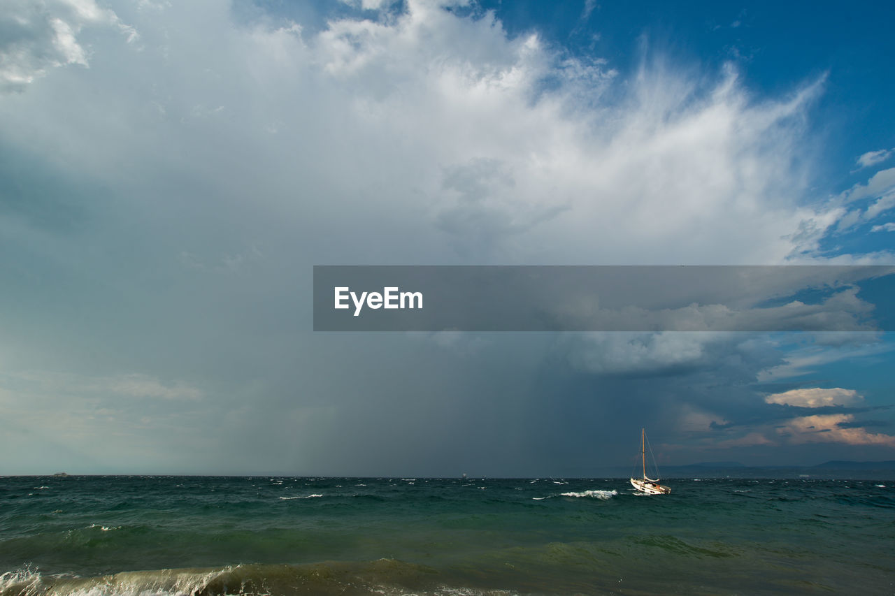 sea, sky, water, horizon over water, cloud - sky, beauty in nature, nature, nautical vessel, scenics, tranquility, outdoors, tranquil scene, transportation, waterfront, no people, day
