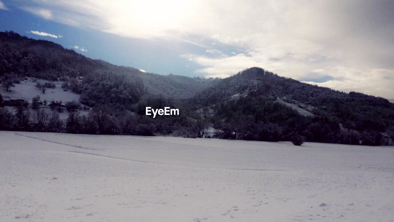 mountain, snow, landscape, nature, cold temperature, sky, winter, outdoors, scenics, no people, day, beauty in nature, tree