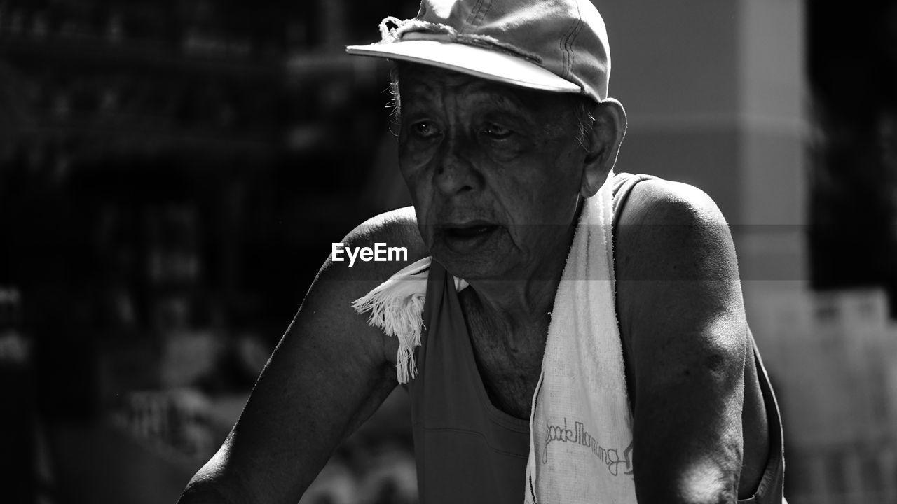 Senior Man Looking Away