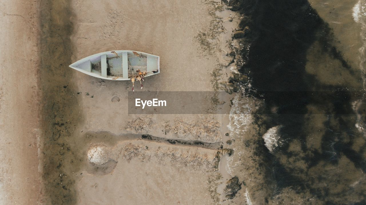 Boat On Sand At Beach
