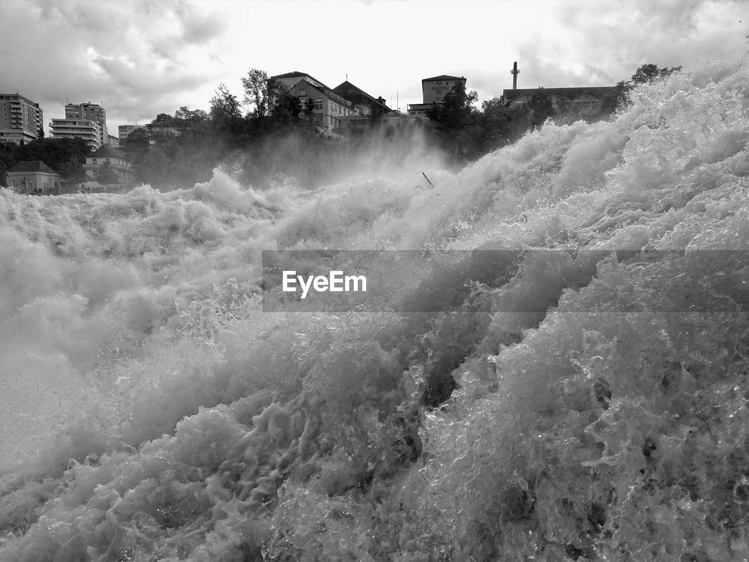 Scenic view of rhine falls