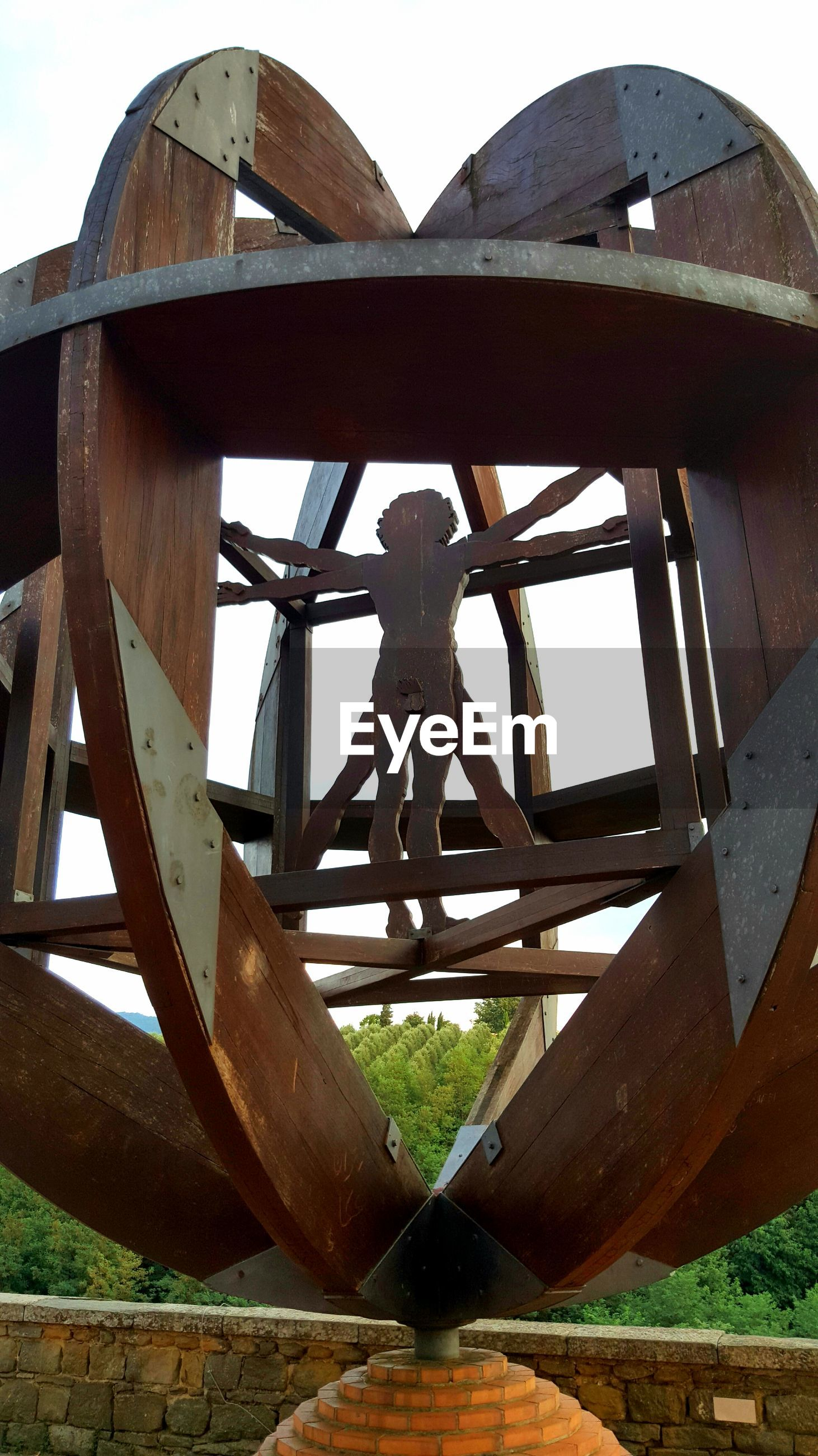 day, wood - material, low angle view, outdoors, childhood, built structure, no people, architecture, sky, close-up