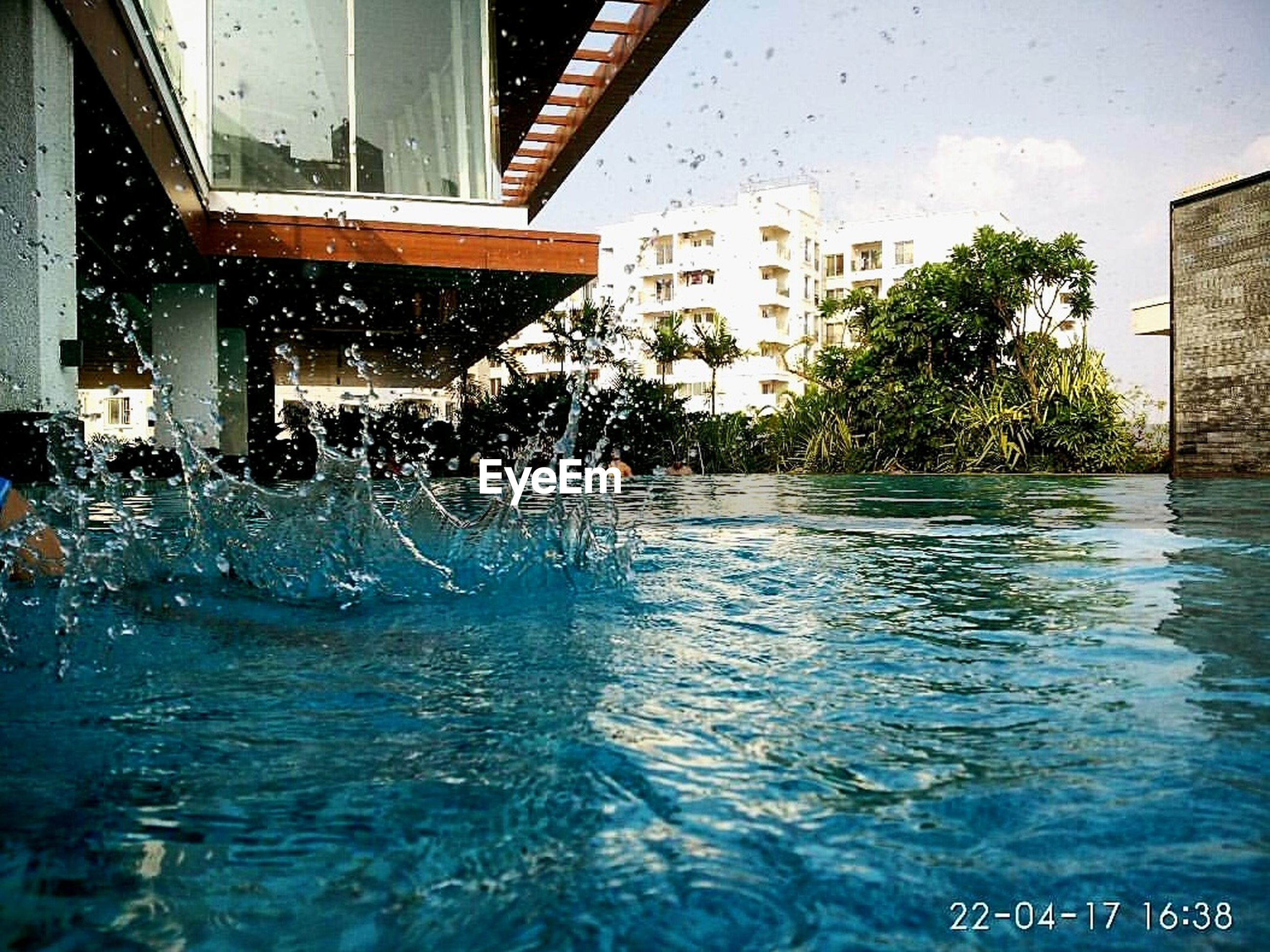 water, architecture, building exterior, built structure, swimming pool, no people, outdoors, day, city