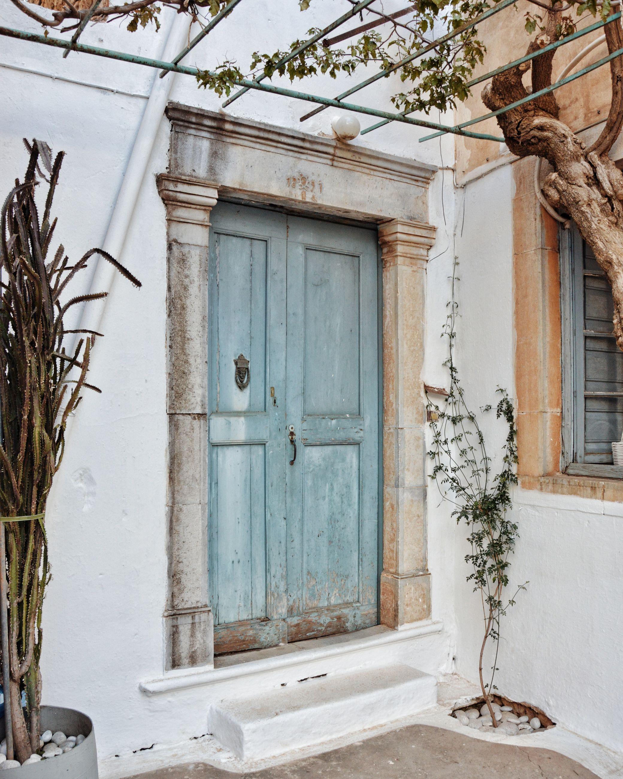 Traditional wooden front door