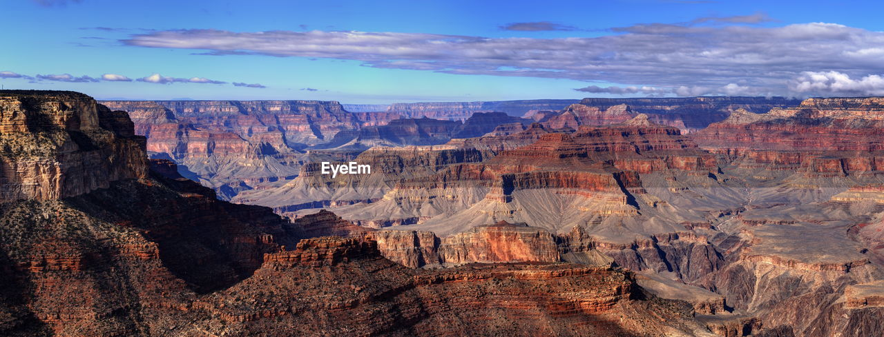 Panoramic view of grand canyon against sky