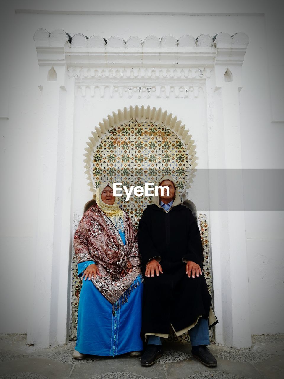 Senior Couple With Traditional Clothes