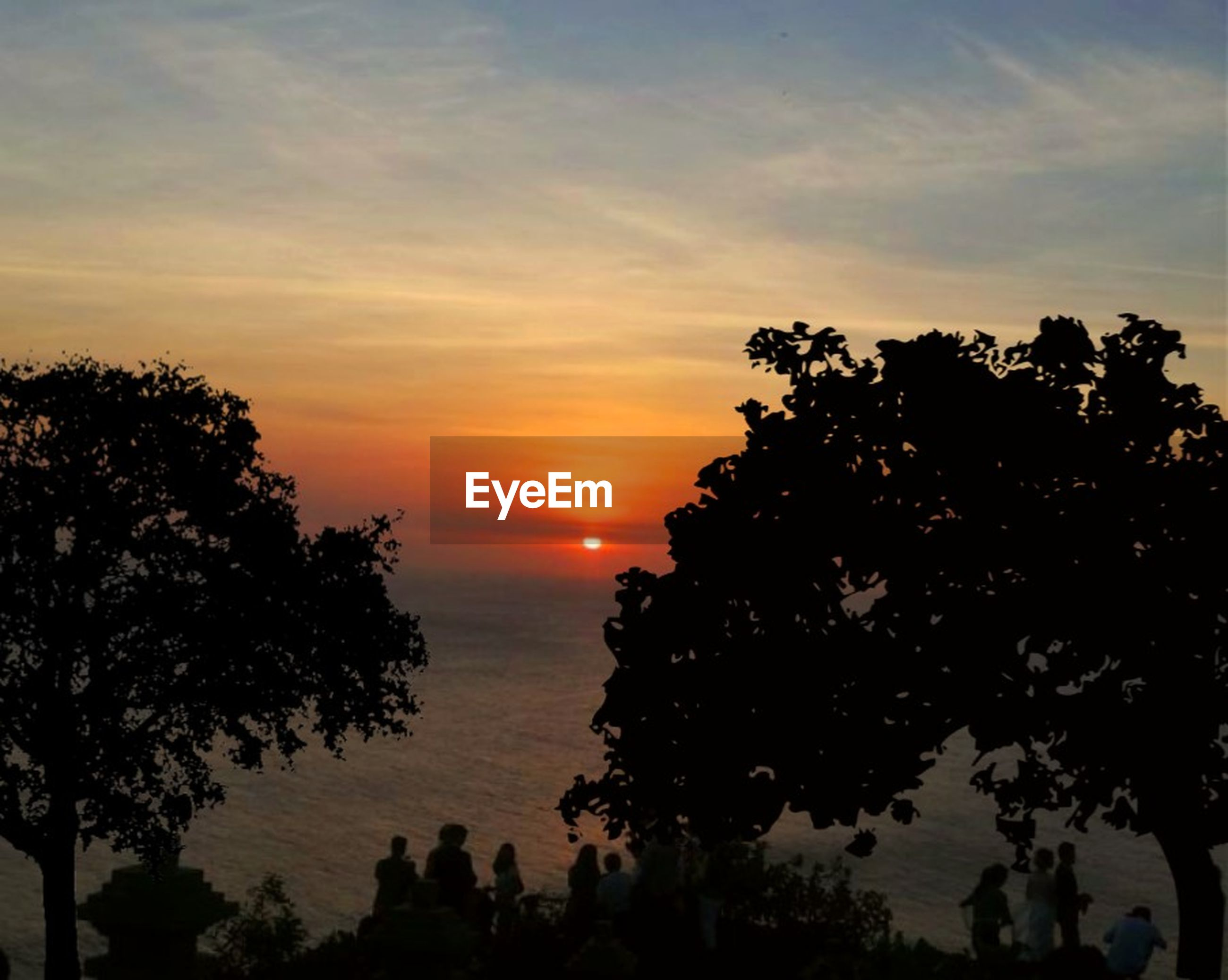 sunset, sky, tree, silhouette, beauty in nature, plant, scenics - nature, tranquility, tranquil scene, orange color, growth, nature, idyllic, sun, outdoors, no people, cloud - sky, sunlight, non-urban scene, water
