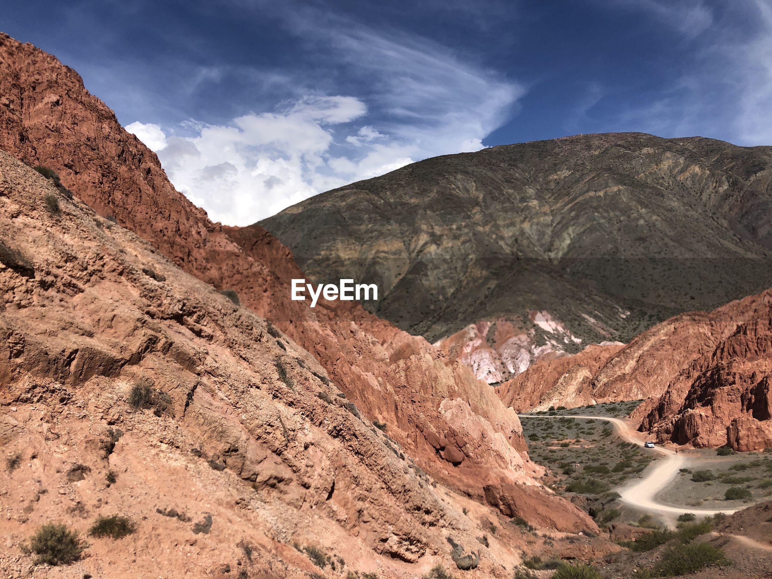 The stunning arid landscape in northern argentina.