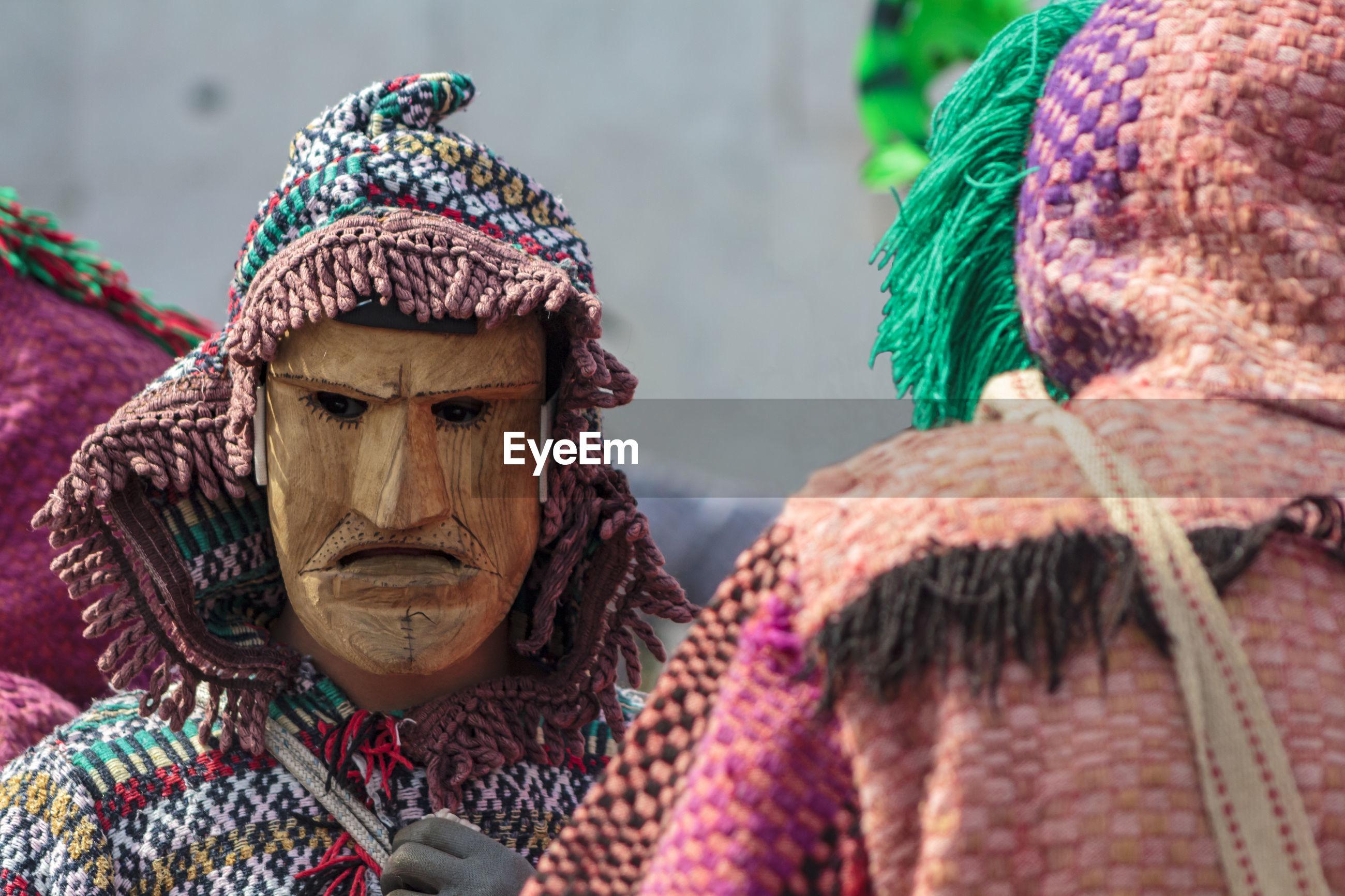 Masked men, caretos,  at iberian mask festival