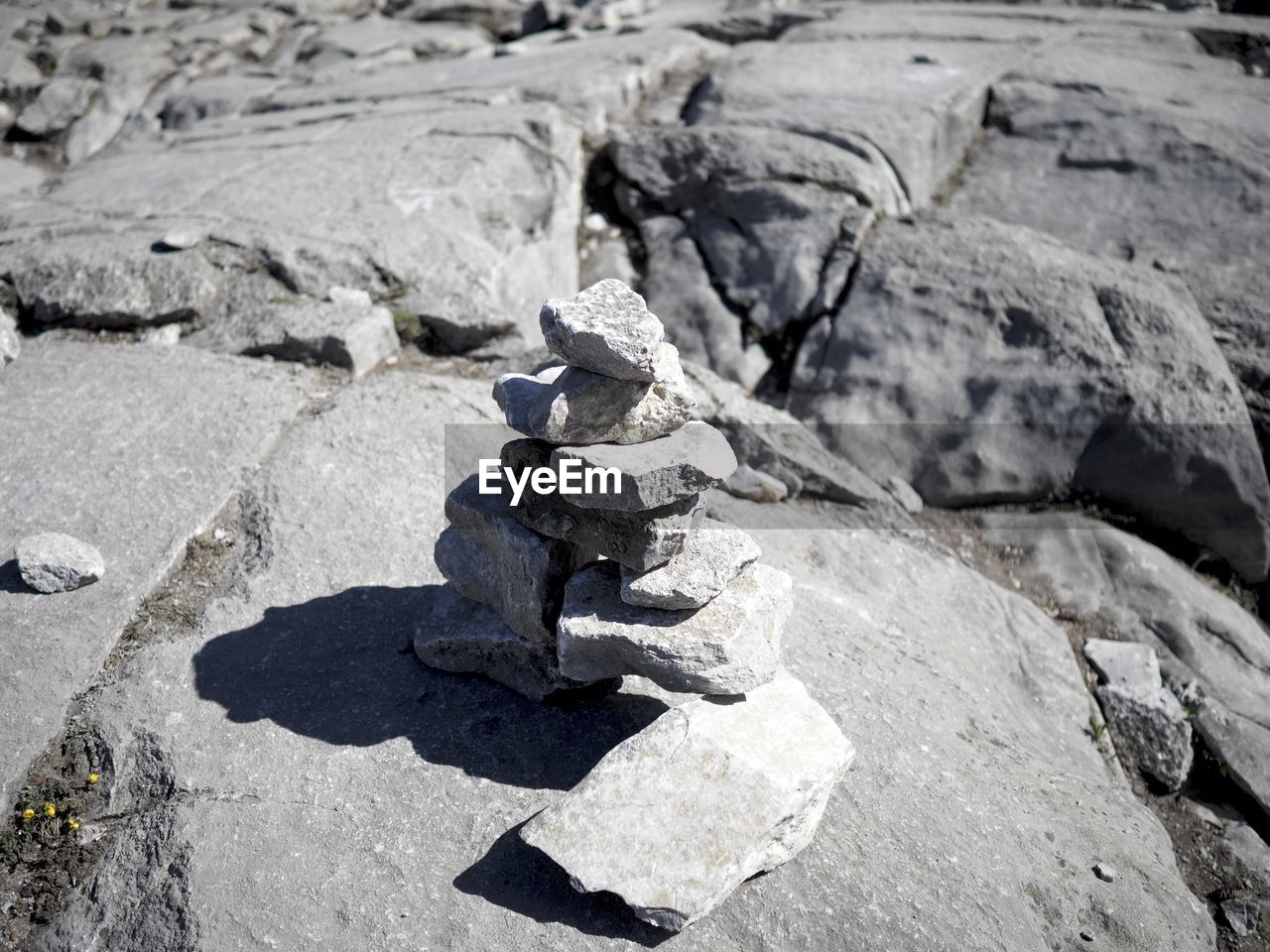 Stack Of Rocks On Sunny Day
