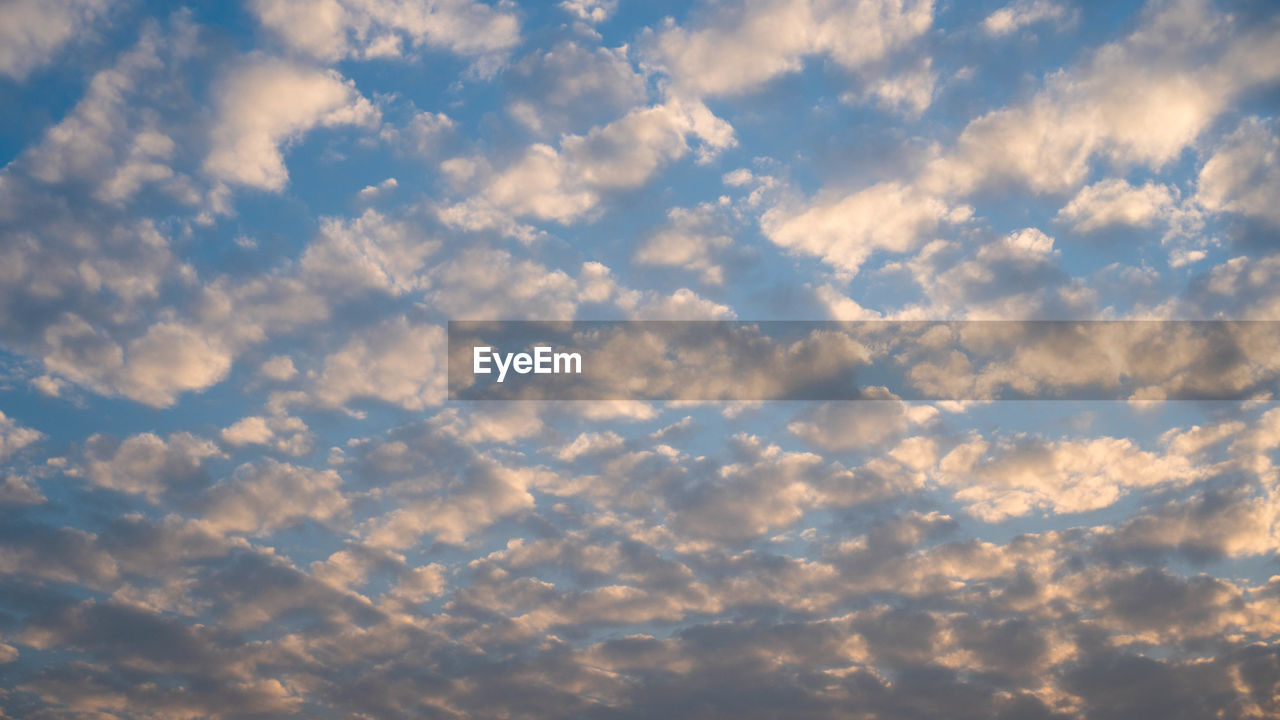 cloud - sky, sky, beauty in nature, low angle view, tranquility, scenics - nature, nature, no people, tranquil scene, backgrounds, full frame, outdoors, day, idyllic, cloudscape, sunset, non-urban scene, environment, dramatic sky, meteorology