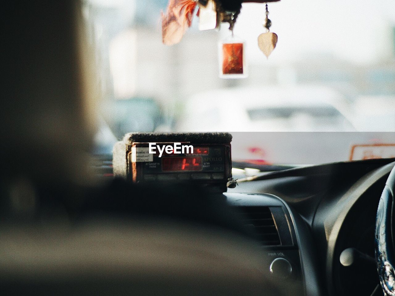Interior Of Taxi