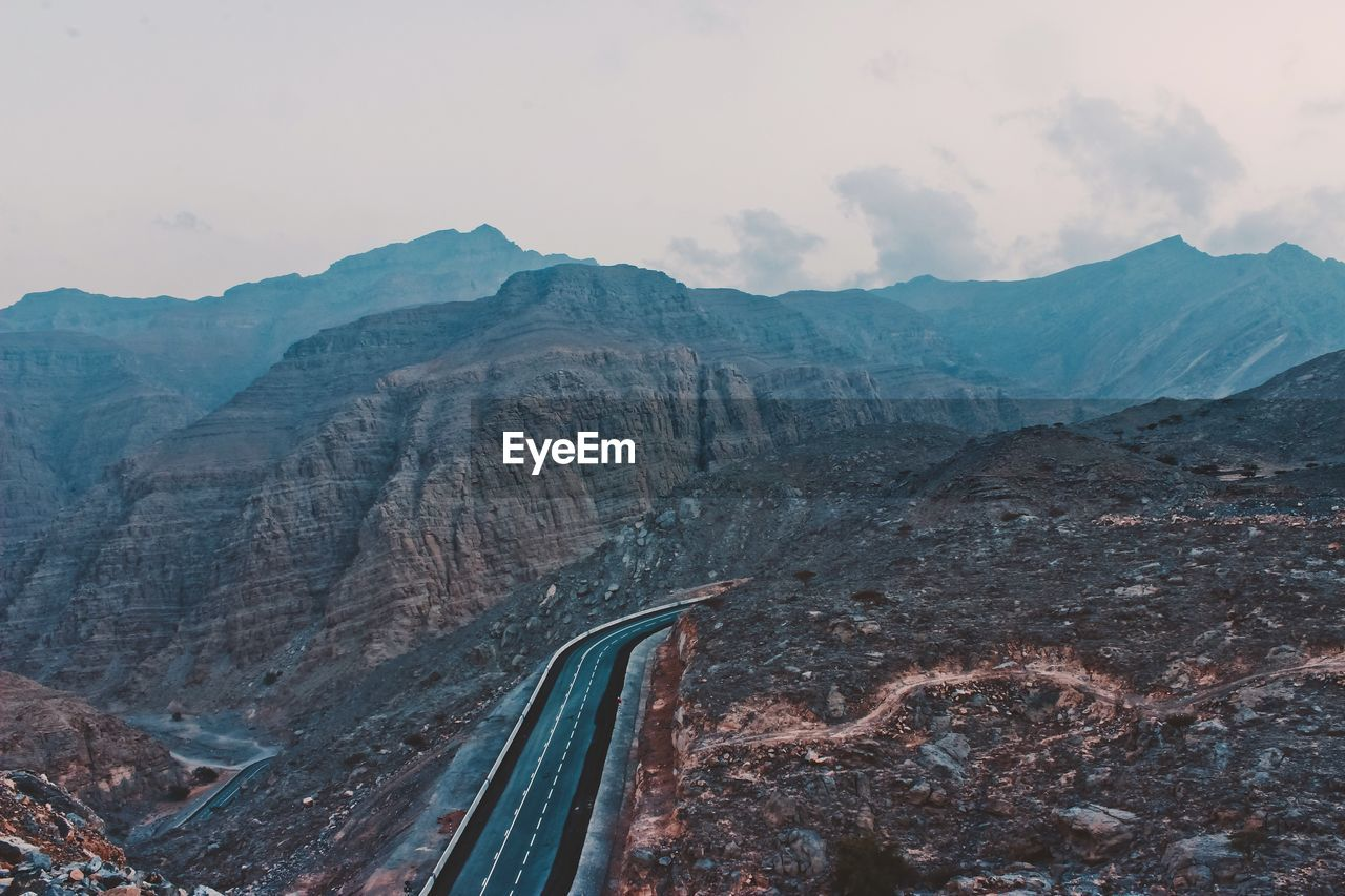High Angle View Of Street In Mountains