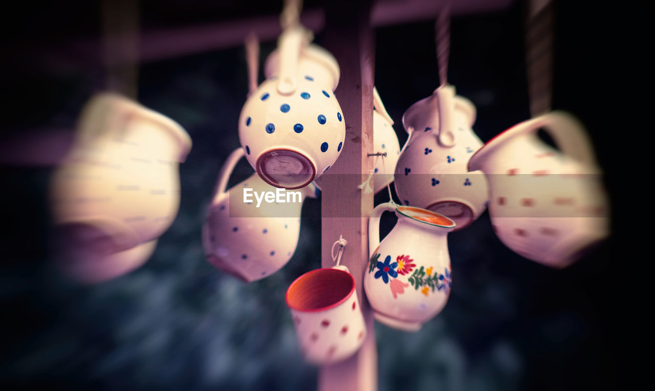 hanging, art and craft, no people, close-up, creativity, focus on foreground, selective focus, craft, for sale, still life, day, multi colored, in a row, choice, decoration, variation, representation, retail, indoors, string