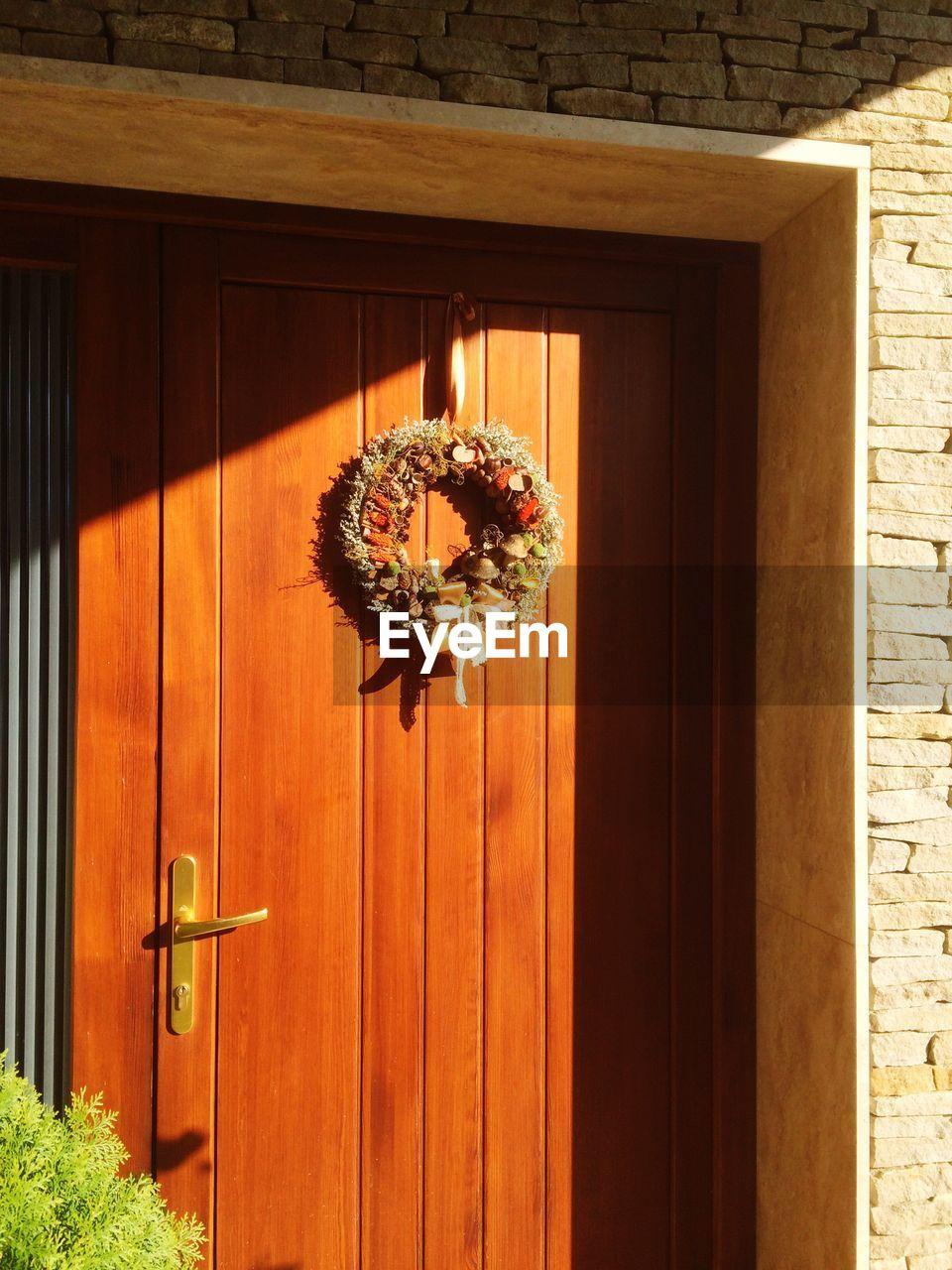 door, no people, doorway, day, hanging, architecture, outdoors, animal themes, open door, nature