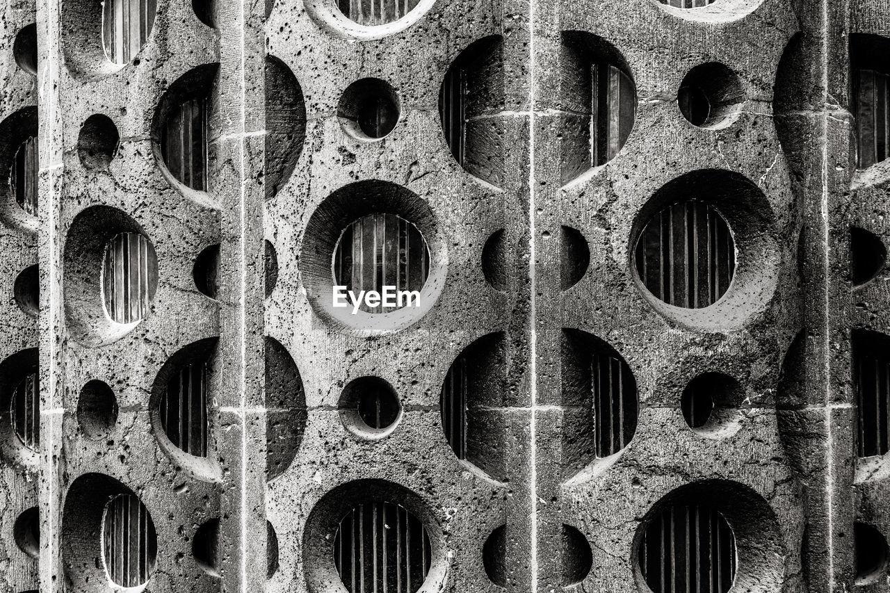 Full Frame Shot Of Patterned Concrete Wall