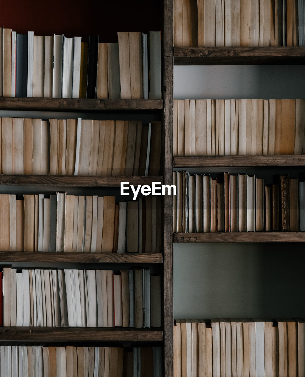 Full Frame Shot Of Books In Shelf