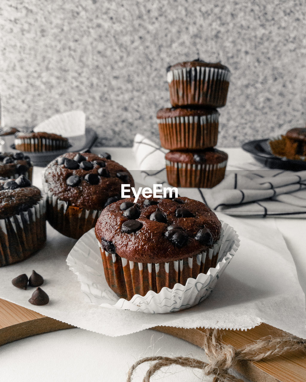 Close-up of muffins on table