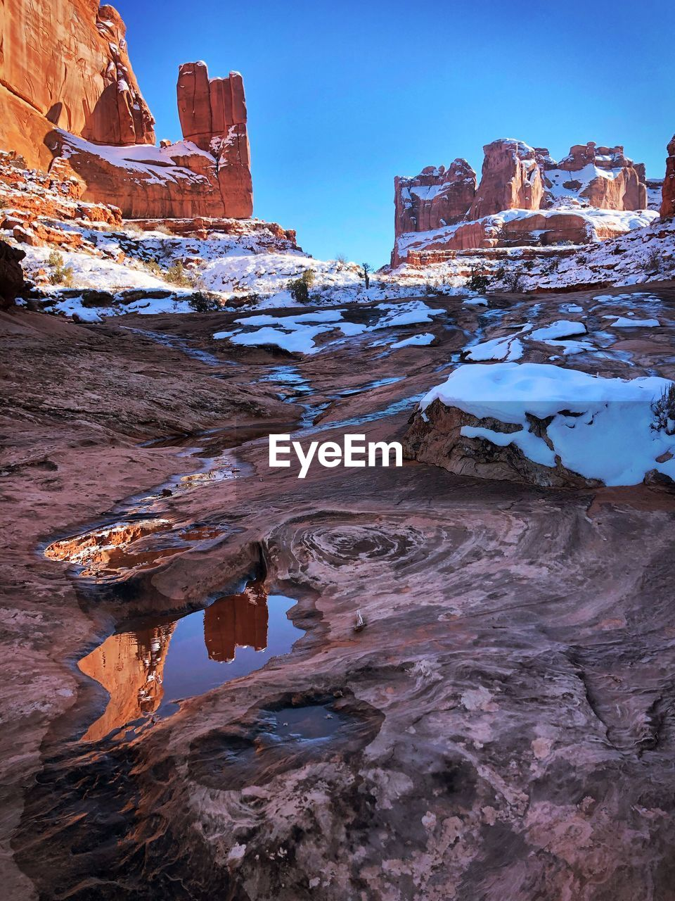 Arches National Park Rock Formation Reflecting In On Eyeem