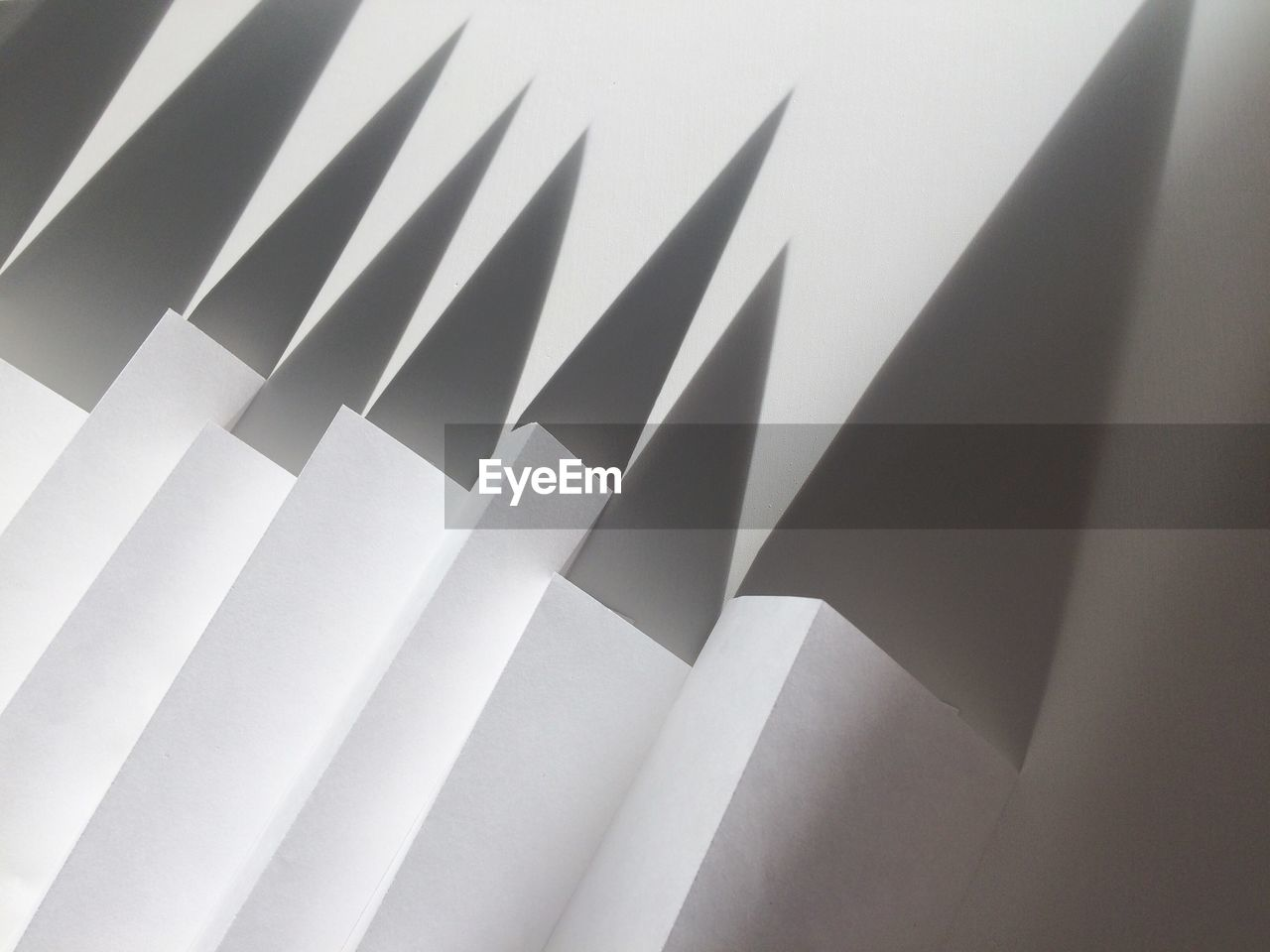 Low Angle View Of Folded Paper