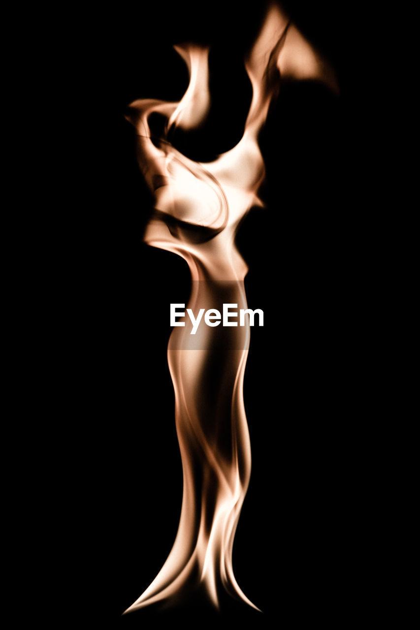 burning, flame, black background, studio shot, heat - temperature, close-up, indoors, no people, night