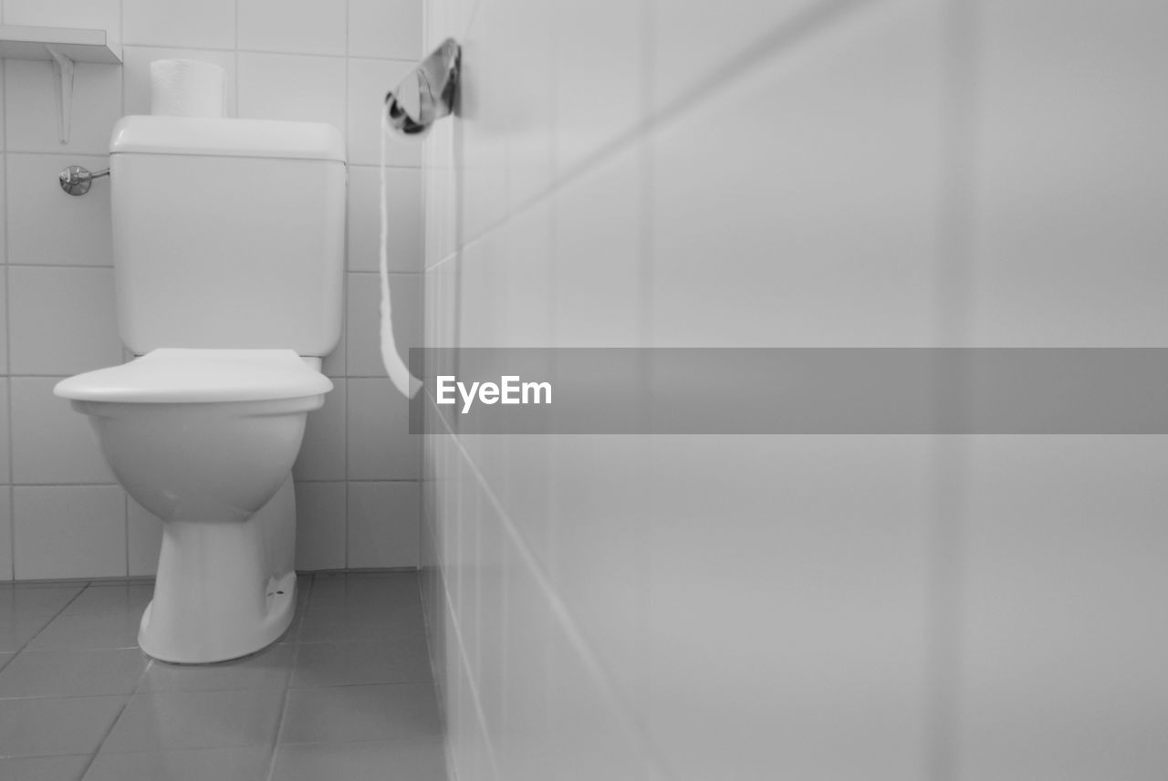 Interior of domestic bathroom