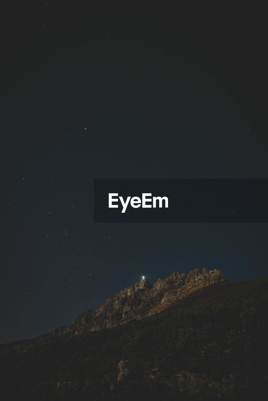 sky, night, star - space, tranquility, beauty in nature, scenics - nature, low angle view, no people, space, tranquil scene, astronomy, nature, mountain, star, idyllic, outdoors, star field, copy space, non-urban scene, galaxy