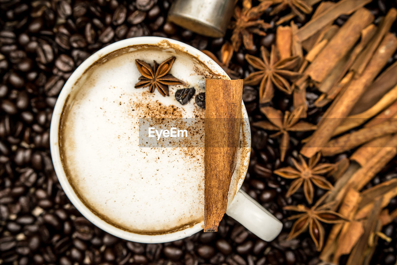 star anise, spice, food and drink, close-up, drink, anise, high angle view, no people, tea - hot drink, food, freshness