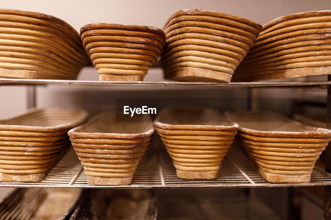 Details und brote aus einer bio bäckerei. bäcker handwerk