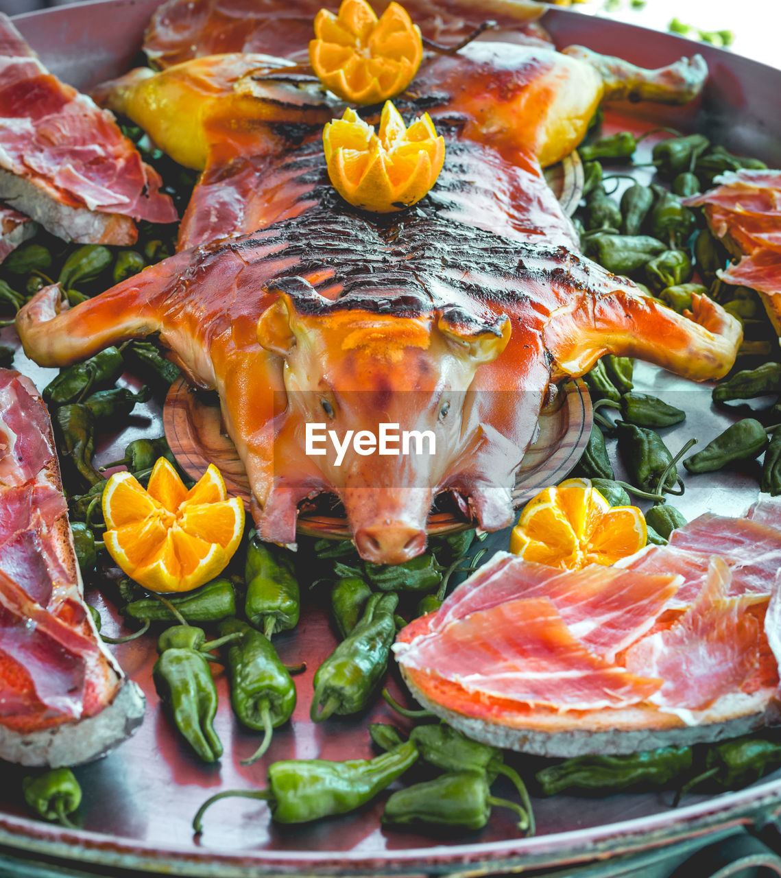 food and drink, food, healthy eating, freshness, wellbeing, seafood, close-up, animal, fish, vertebrate, plate, vegetable, no people, ready-to-eat, fruit, indoors, orange color, still life, meat, slice, dinner
