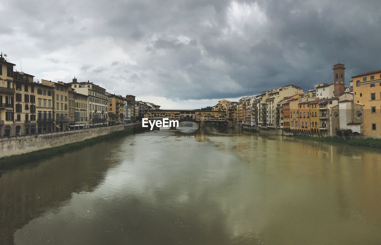 architecture, water, building exterior, built structure, cloud - sky, sky, waterfront, reflection, building, nature, city, residential district, no people, river, bridge, day, connection, outdoors, arch bridge