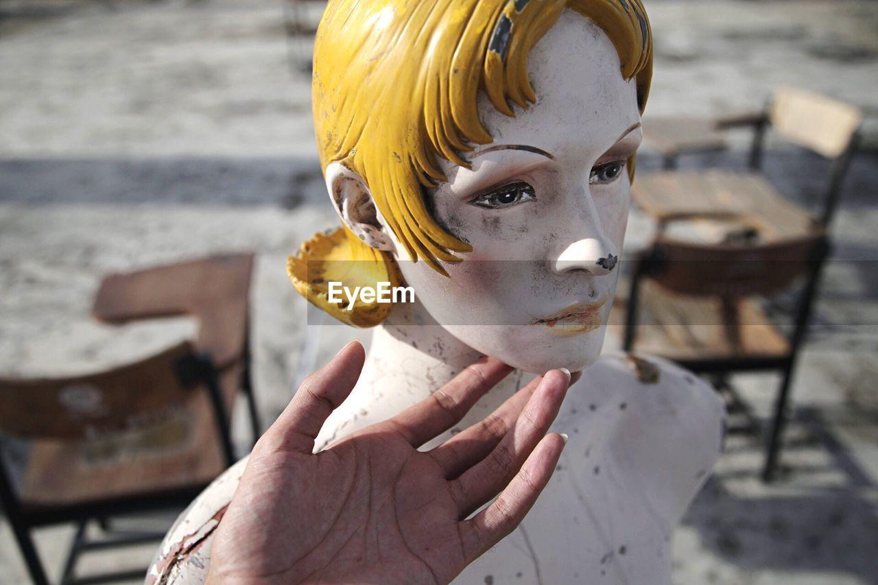 Close-up of female mannequin