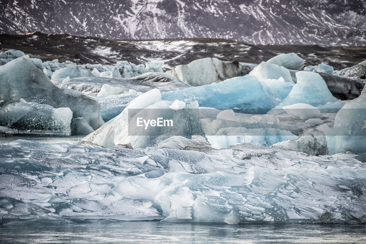ice, cold temperature, glacier, water, frozen, environment, landscape, snow, winter, no people, beauty in nature, iceberg, nature, sea, day, scenics - nature, melting, tranquility, floating on water