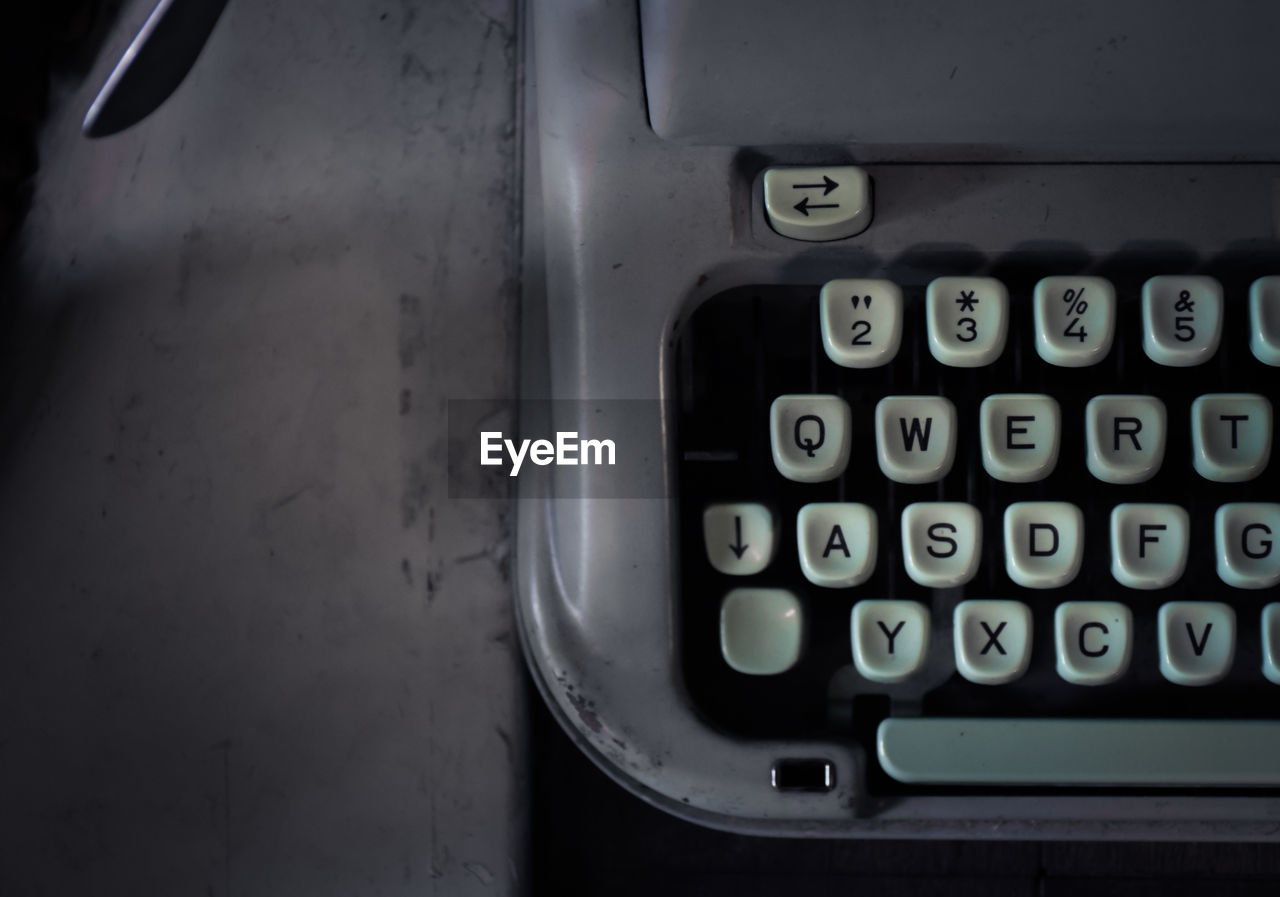 technology, number, close-up, indoors, typewriter, text, communication, alphabet, no people, retro styled, letter, high angle view, connection, machinery, western script, keyboard, computer keyboard, computer equipment, equipment, push button, computer key
