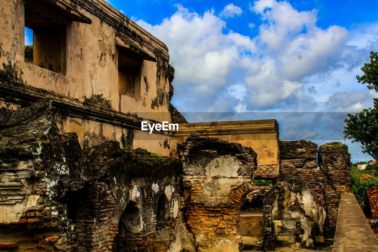 architecture, built structure, sky, history, the past, cloud - sky, ancient, old ruin, building exterior, nature, ancient civilization, old, travel destinations, no people, building, travel, day, archaeology, low angle view, abandoned, outdoors, ruined, architectural column, ancient history
