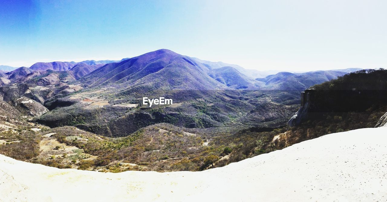 mountain, nature, scenics, beauty in nature, tranquil scene, tranquility, mountain range, landscape, clear sky, non-urban scene, no people, day, outdoors, physical geography, sky, winter