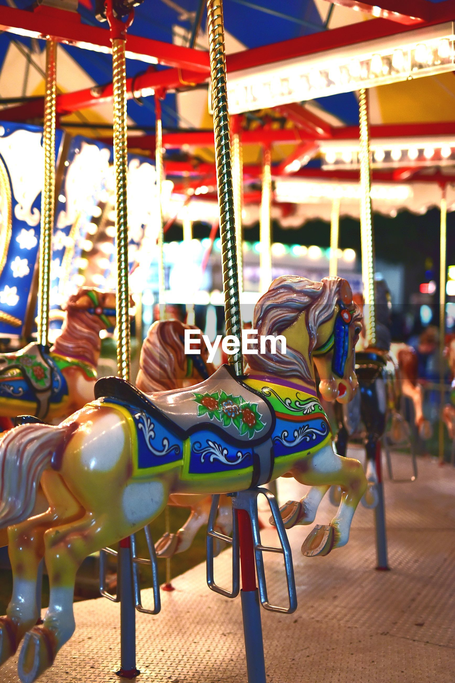 View of carousel at amusement park