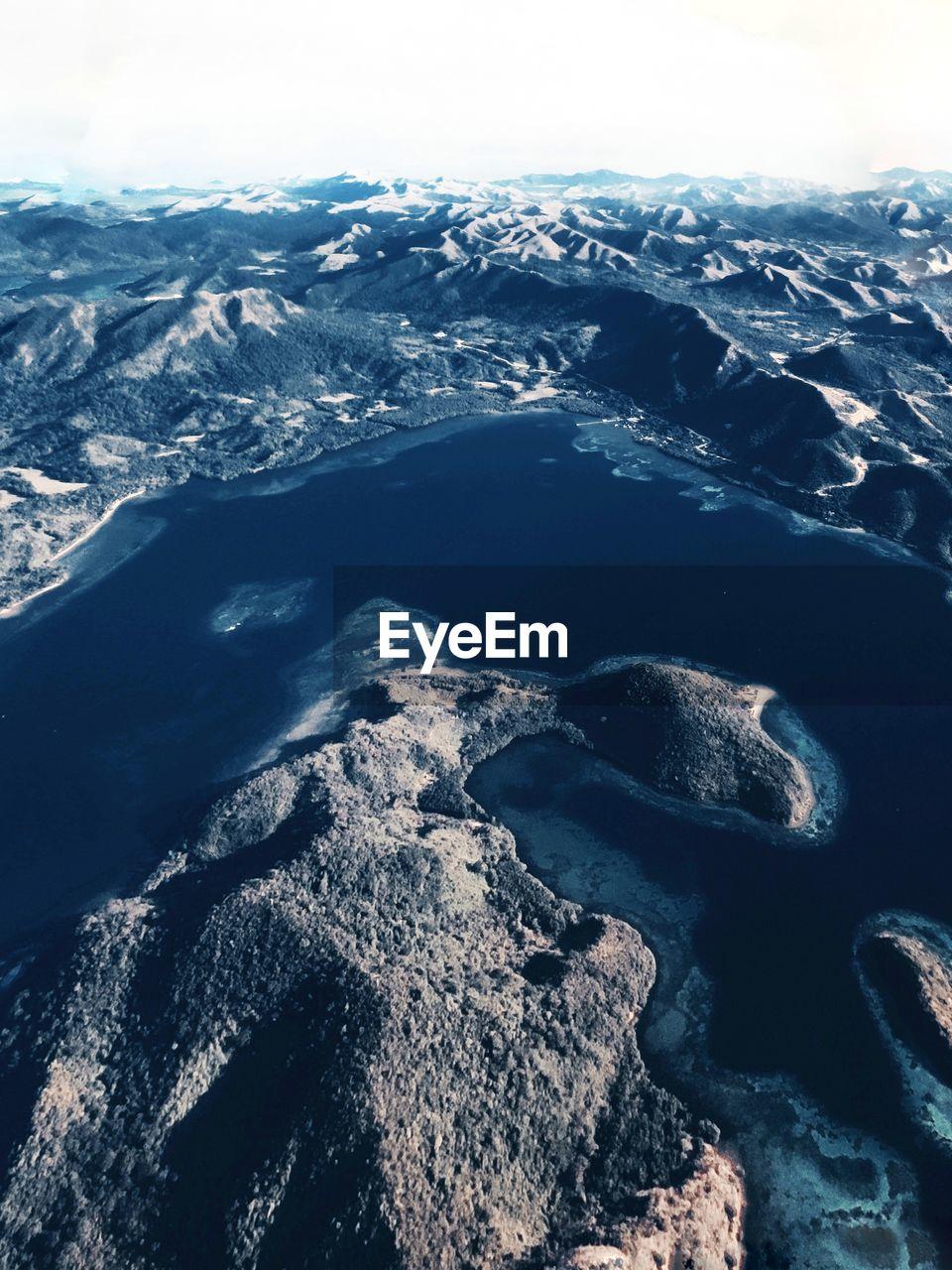 Coron island in palawan aerial view