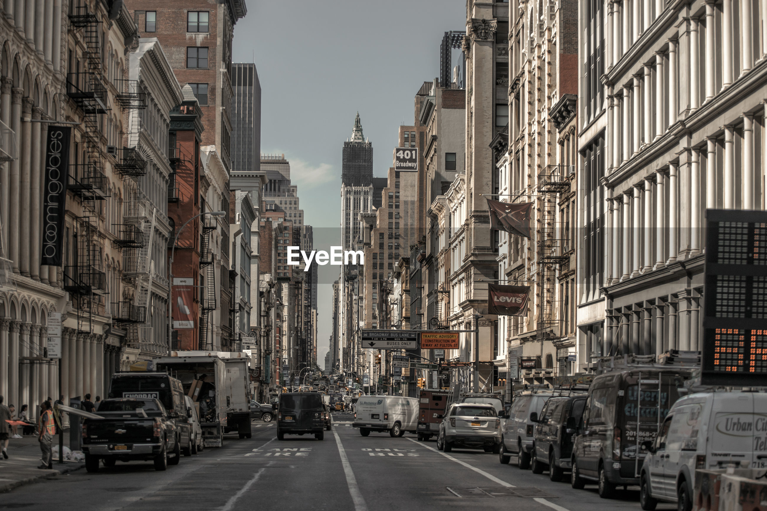 View of broadway, new york city